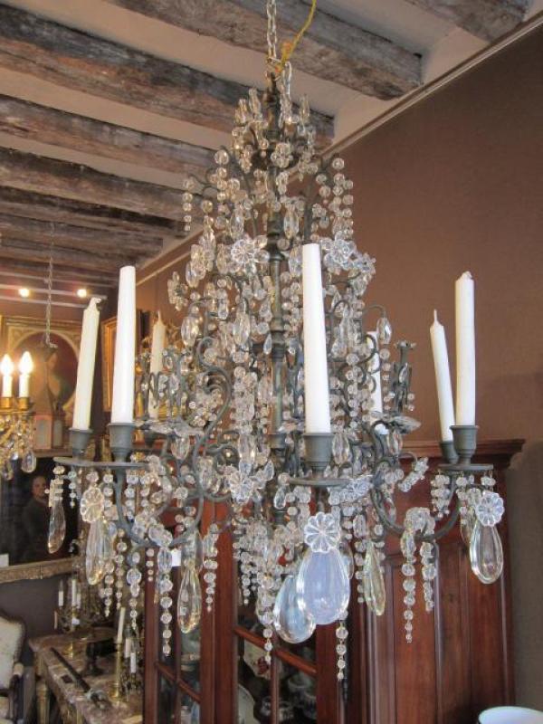 luminaires lustre russe bronze et cristal antiquit s questel. Black Bedroom Furniture Sets. Home Design Ideas
