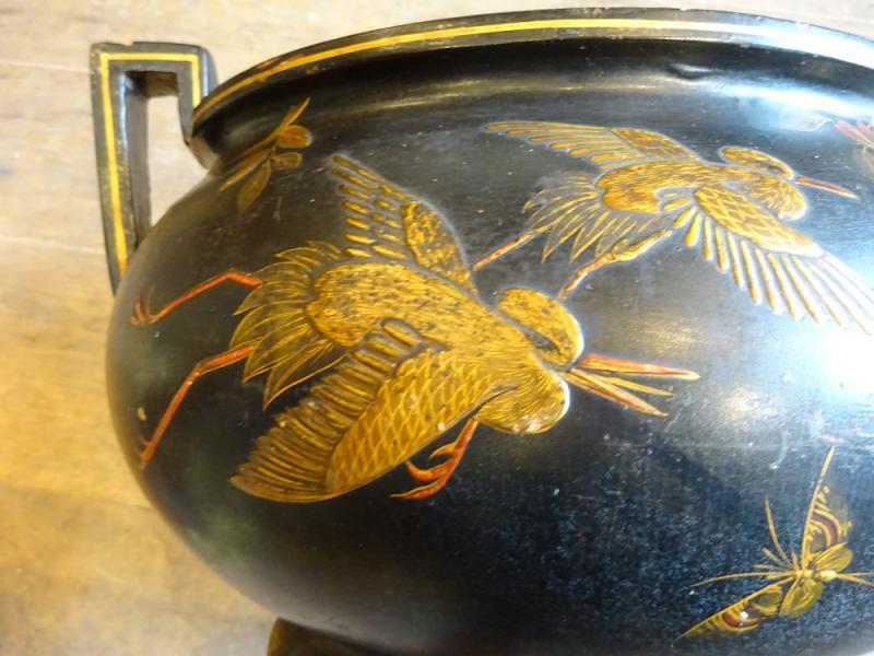 cramiques cache pot en terre cuite maille antiquit s questel. Black Bedroom Furniture Sets. Home Design Ideas